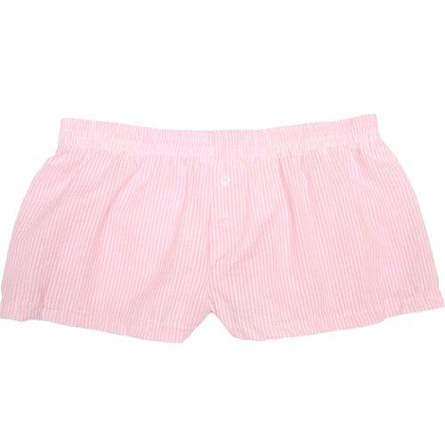 Boxercraft Seersucker - Boxercraft Womens Cotton Seersucker Pajama Boxers, Small, Cotton Candy Pink