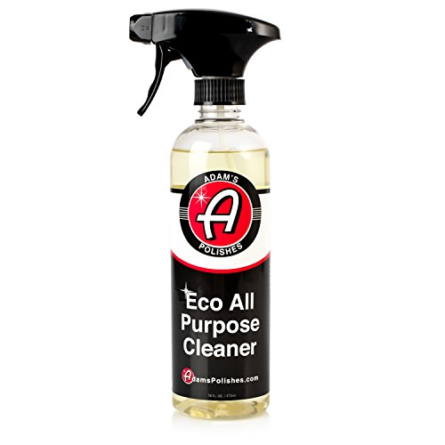 Adam's ECO All Purpose Cleaner - Industrial Strength, Concentrated Formula Can be Diluted Down - Tough on Dirt but Easy on Your Car, You, and The Environment (16 oz) 16 Ounce Tough Brush
