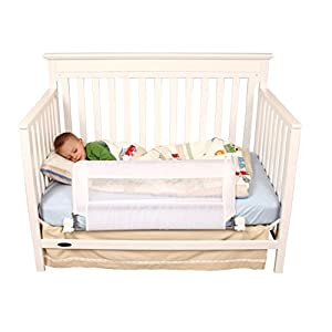 Regalo Swing Down Extra Long Convertible Crib Toddler Bed Rail Guard with Reinforced Anchor Safety System 9