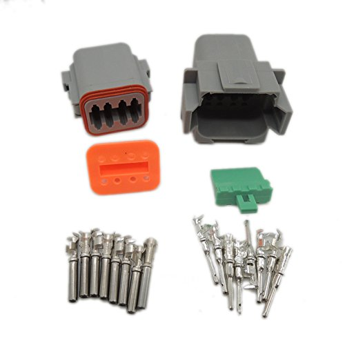1 sets Kit Deutsch DT 8 Pin Waterproof Electrical Wire Connector plug Kit 22-16AWG DT04-8P DT06-8S Ogry