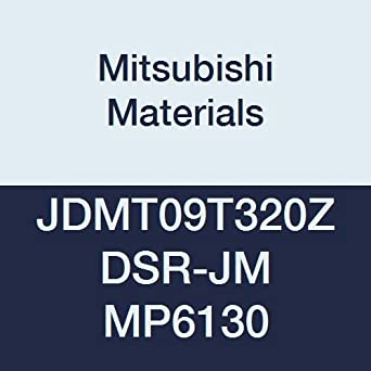 Coated Mitsubishi JDMW120420ZDSR-FT MP7130 Carbide Milling Insert 0.079 Corner Radius Case of 10 Grade MP7130 0.187 Thick 0.472 Inscribed Circle Class M Chamfer and Round Honing
