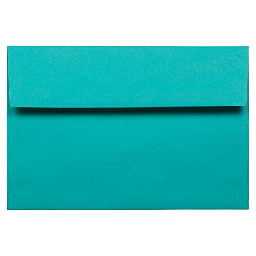 - JAM PAPER A8 Colored Invitation Envelopes - 5 1/2 x 8 1/8 - Sea Blue Recycled - 50/Pack