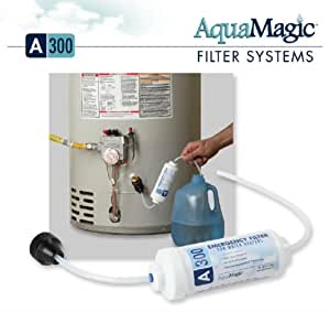 AquaMagic A300 THREE Pack Emergency Drinking Water Filter For Your Hot Water Heater, Aqua Magic Emergency Drinking Water Filtration Filter For Emergency Safety Preparedness 72 Hour Kits Disaster Survival Gear Kits For Home, Work, School, And Office And Prepare For Hurricane Storm, Flood Evacuation, Fire, Or Terrorist Attack