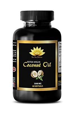 Coconut essential oil - EXTRA VIRGIN COCONUT OIL 3000 MG - Burn fat fast pills - 1 Bottle 60 softgels