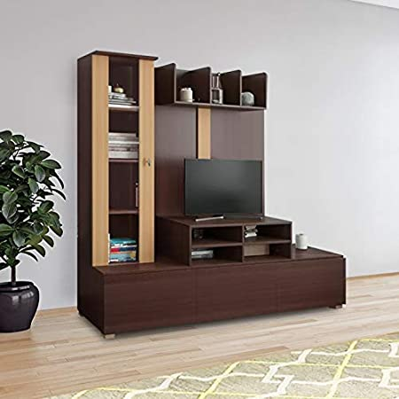 HomeTown Hugo Engineered Wood TV Unit in Walnut   Teak Colour