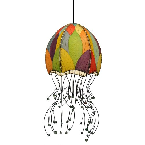 - Eangee Jellyfish Hanging Lamp, 35-Inch Tall, Multicolor