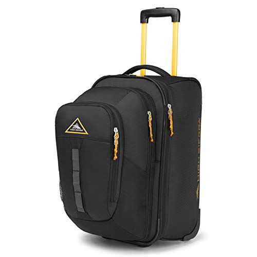 (High Sierra Pathway Carry-On Wheeled Upright With Removable Daypack Black/Gold)