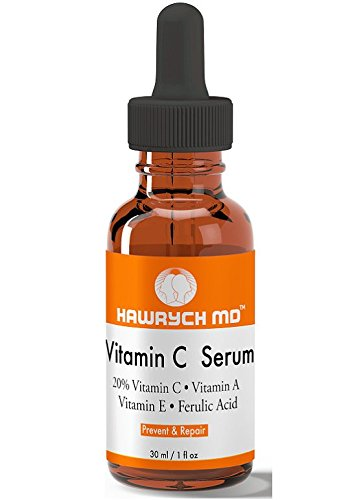 Amazon.com: HAWRYCH MD Vitamin C Serum The Best Anti Aging Serum Diminishes Lines and Wrinkles with Vitamin A E, Ferulic Acid Stimulates Collagen Production ...