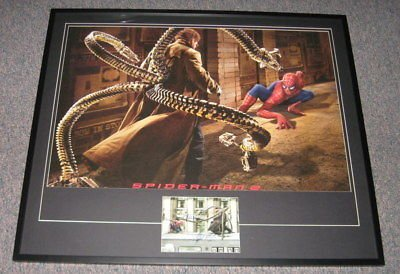 Spiderman 2 Cast Signed Framed Poster 38x45 JSA Tobey Maguire Alfred Molina
