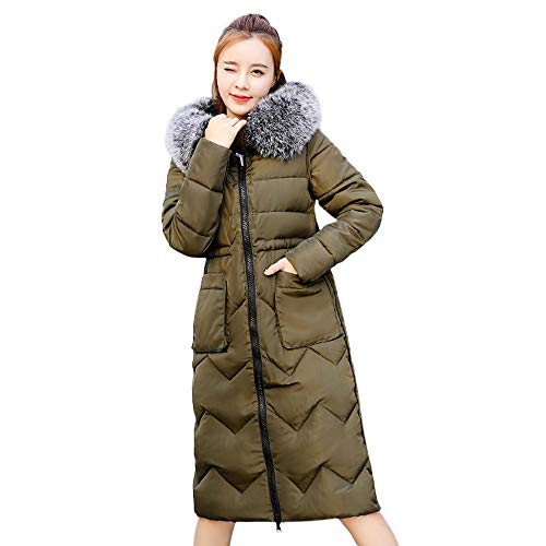 Londony ♥‿♥ Clearance Sales,Women's Fashion Zip Pockets Parka Puffer Jacket Down Coat with Fur Hood