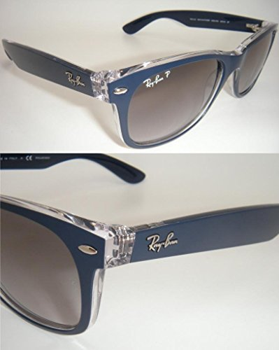 Rb New Grey ban 55mm Gradient Polarized Authentic Ray 6053 Wayfarer Blue m3 2132 vFEF4SIU