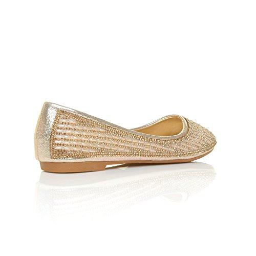 ShuWish donna oro Ballerine Gold UK Pu vvpZxPqw