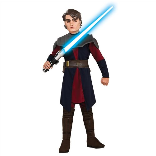 [Rubie's Costume Star Wars Clone Wars Deluxe Anakin Skywalker Costume, One Color, Small] (Anakin Star Wars Costumes)