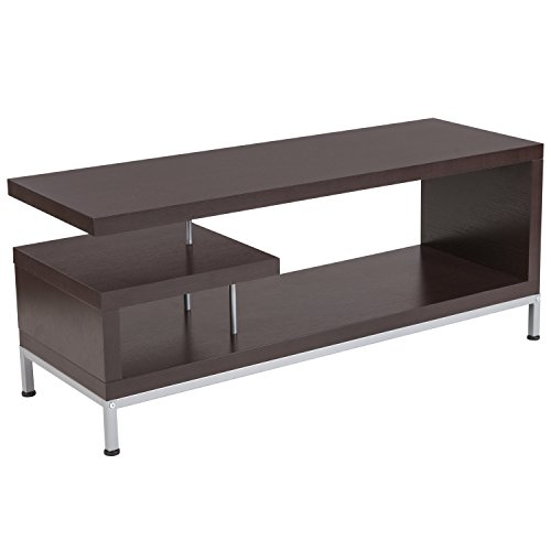 Stand Tv Finish Contemporary Wood (Flash Furniture Westmont Espresso Wood Finish TV Stand)