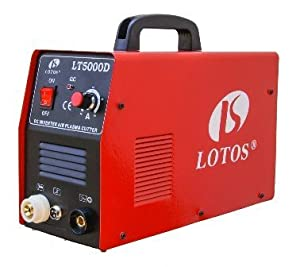 "Lotos LT5000D Plasma Cutter 50Amps Dual Voltage Compact Metal Cutter 110/220V AC 1/2"" Clean Cut by Lotos Technology"
