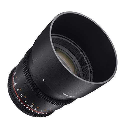 Lente de cine Samyang SYDS85M-NEX VDSLR II 85 mm T1.5 para cámaras Sony Alpha con montura tipo E (FE)