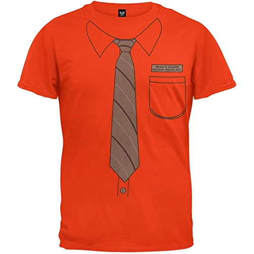 The Office - Mens Dwight Schrute Costume T-shirt Small Orange
