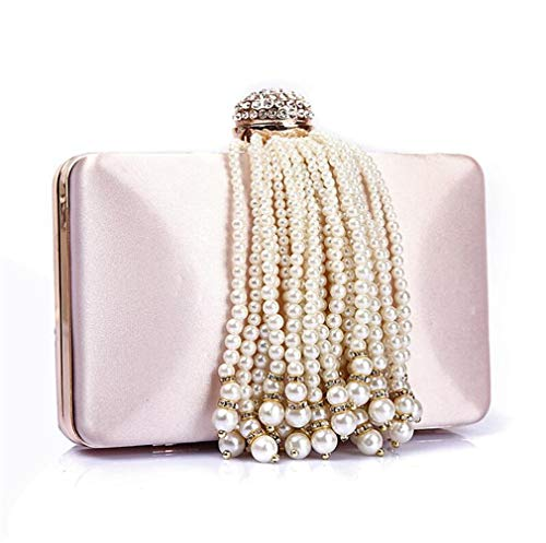 ndbag, Europe and The United States High-end Princess Dinner Pearl Tassel Bag Evening Bag Birthday Party Opponent Bag - 17.0 11.0 4.0 cm ()