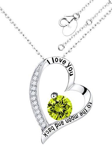 Birthstone Heart Necklace - 5