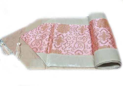 BEAUTIFUL FLOWER THAI SILK TABLE/BED RUNNER WITH COMPLIMENTARY by ZENZA FASHION