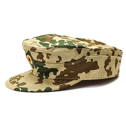(Genuine Brand German Army Cap Desert Tropical Camouflage Field Original Military Issue hat)