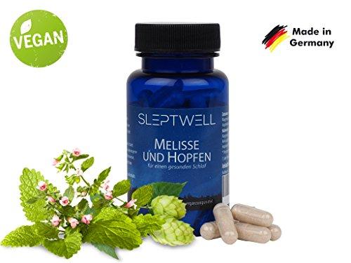 natürliches Schlafmittel pflanzlicher Basis von Sleptwell | sleep optimizer Nahrungsergänzungsmittel lindert Schlafprobleme Durch-schlafstörungen | besser schlafen | einschlafen | höhere Schlafqualität
