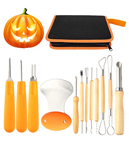 Used Halloween Decorations - 12 Pieces Professional Pumpkin Carving Tool