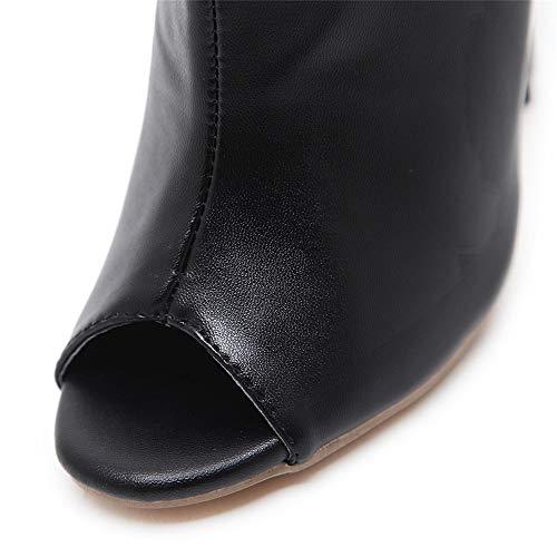 Noir Polyvalente Femmes Et Artificielle Mode Escarpins 12cm Confortables Bottes Américaines Talons Pu À Européennes Hauts Sexy rdBshQxtCo