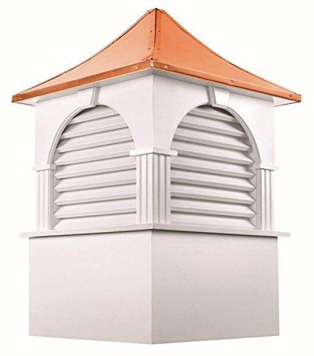 74'' Handcrafted ''Concord'' Copper Roof Vinyl Cupola by CC Home Furnishings