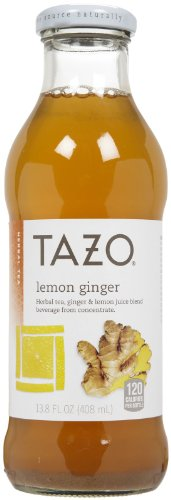 Tazo Lemon (Tazo Lemon Ginger Iced Tea, 13.8 oz, 12ct)