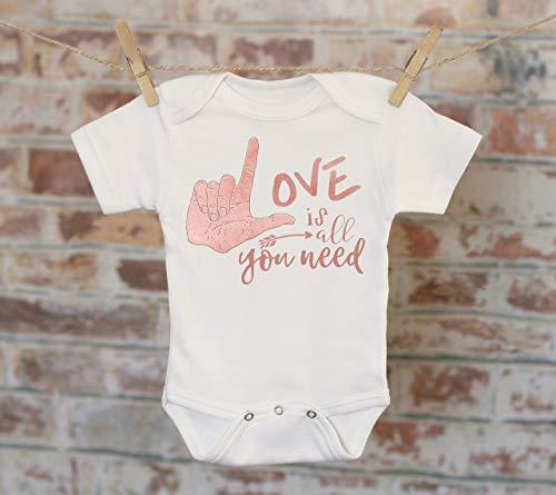 Love Is All You Need Onesie®, Bohemian Onesie, Song Lyrics Onesie, Cute Baby Bodysuit, Cute Onesie, Boho Baby Onesie