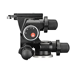 Manfrotto Junior Geared Head (410) & 475B Pro Geared Tripod Without Head (Black) (Color: Black, Tamaño: 12.2 x 24 x 7.5 inches)