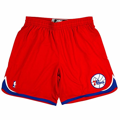 (adidas Philadelphia 76ers NBA Red Authentic On-Court Climacool Team Game Shorts for Men (4XLT))