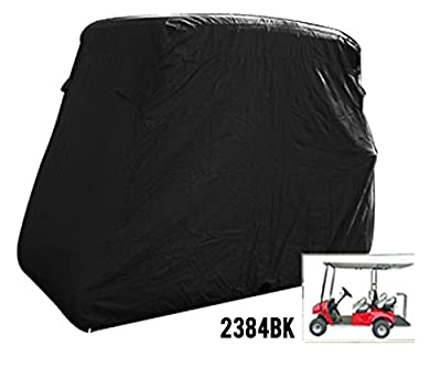 4 Passenger Golf Golf Cart Cover Fits Ez Go, Club Car, Yamaha, Eagle, Black