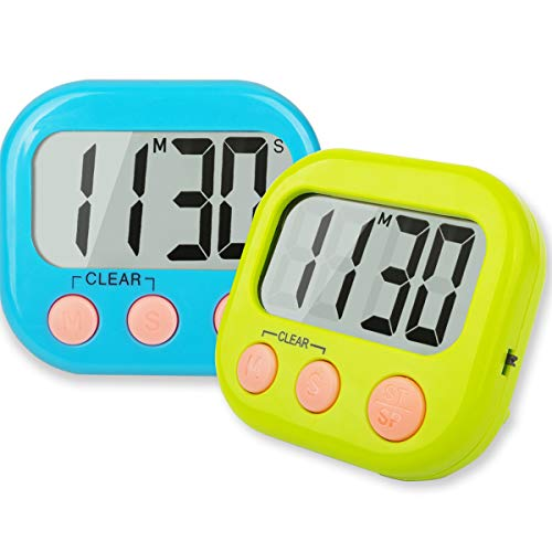 Classroom Timers for Teachers Kids Large Magnetic Digital Timer 2 pack -