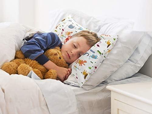 cosmoplus Kids Toddler Pillowcases-2 Pack Pillow Cover for Boys Girls Kids Bedding,Heart Pattern
