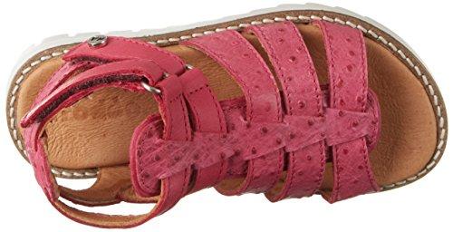 Froddo G3150097, Sandalias de Punta Descubierta Para Niñas rojo (Fuxia)