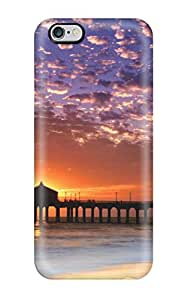 8907972K42835221 Snap On Hard Case Cover Colorful Sky Manhattan Beach Protector For Iphone 6 Plus