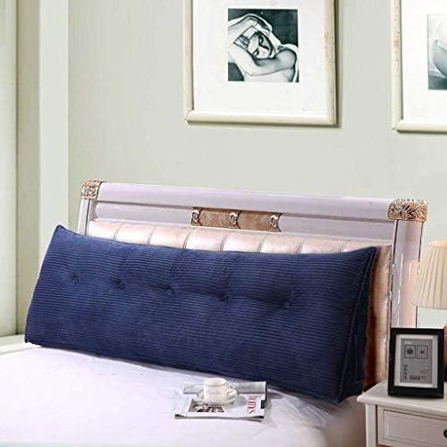 三角形の背もたれクッション、柔らかいベッドのクッション、寝室用の睡眠用クッション、安静時の読書用クッション、5色、5サイズで洗える(色:B、サイズ:180 cm)