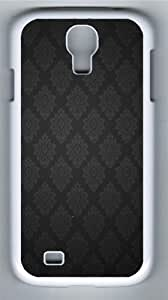 Black Baroque Pattern Custom Samsung Galaxy I9500/Samsung Galaxy S4 Case Cover Polycarbonate White