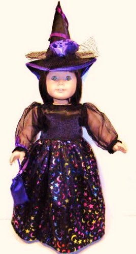 Witch Costume Fits American Girl Doll or 18 Inch Doll Clothes ~ Dress, Witch Hat, Bag **Halloween Costume!!!, Baby & Kids Zone