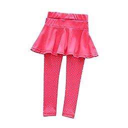 BOBORA Baby Girl Leggings Polka Dot Pattern Pantskirt Trousers Tights Pants