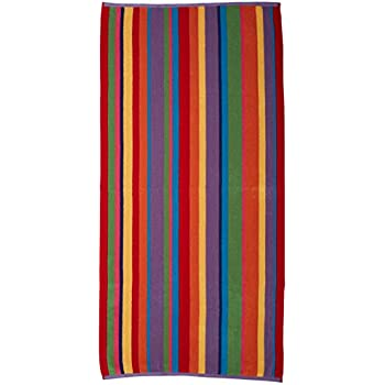 beach towel. Cotton Craft  2 Pack Terry Beach Towel 30x60 Summer of Siam Multi Stripe Amazon com Luxury for Two 58x68