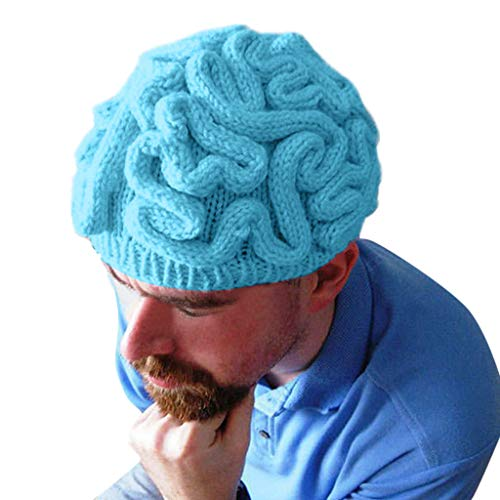KLFGJ Hand Knitted Personality Brain Hat for Kids Adult Crochet Beanie Cool Cerebrum Cap Multiple ()