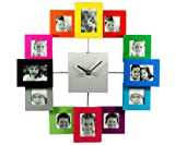 Micro Traders Color Family Time Photo Frame Wall Clock - 35cm35cm