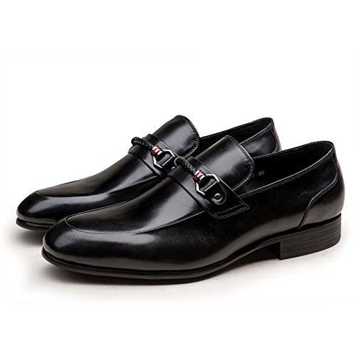 Leather on Slip MEbox Party Black Cow Work Oxford in Mens Shoes 4Pqwqnx7Cz