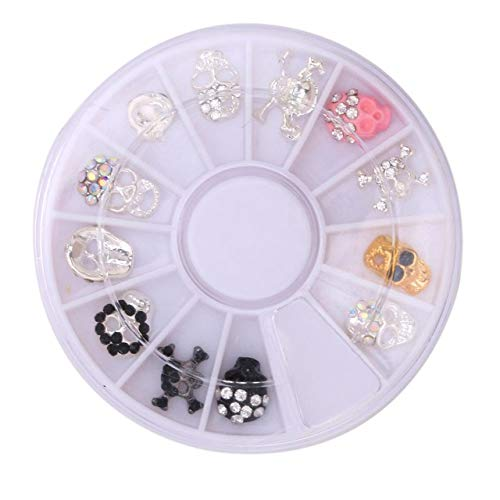 Kamas 12Pcs/Set Nail Design Christmas Halloween Glitter Rhinestones Manicure Nail Beauty Tools for DIY Rhinestones for nails - (Color: style 3)