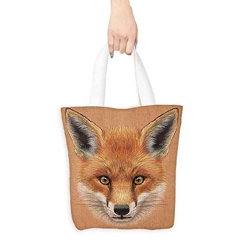 - Handbag or crossbody messenger bag Fox Cute Fluffy Face of Forest Fox Young Baby Mammal Predator Canine Vixen Washable tote 16.5