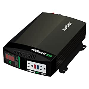 Xantrex 806-1210 PROwatt SW 1000 12V Power Inverter, 1000 watts maximum/2000 watt surge capability, Built-in digital display for DC volts and output power, Built-in USB port to power USB-powered devices