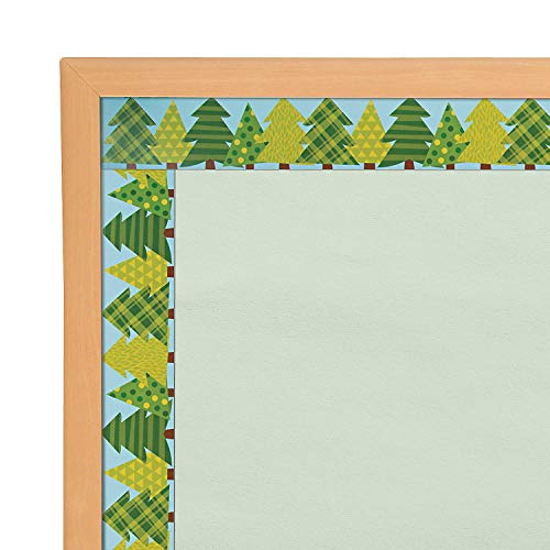 Fun Express - Woodland Tree Border - Educational - Classroom Decorations - Bulletin Board Decor - 12 Pieces